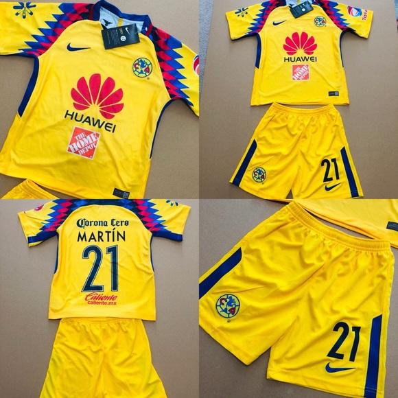 the best attitude fec77 96c8b 🚨 Club America Martin #21 Soccer Jersey Kids Kit NWT